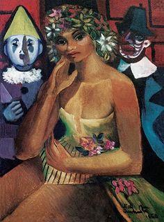 """Esta """"Colombina"""", amada em segredo pelo romântico Pierrot, é uma tela de Di Cavalcanti (1897-1976). O quadro, datado de 1960 gravuras e telas do pintor brasileiro di cavalcanti - Pesquisa Google"""