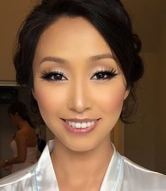 asian glowy makeup that works for both formals and wedding with a nude lips Asian Wedding Makeup, Asian Eye Makeup, Formal Makeup, Bridal Makeup Looks, Glowy Makeup, Bridal Hair And Makeup, Prom Makeup, Wedding Hair And Makeup, Beauty Makeup