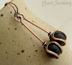 RESERVED LISTING Antiqued copper earrings featuring by BooJewels