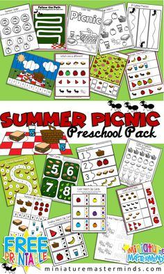 Summer Picnic Preschool Workbook and Activity Pack
