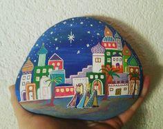 Bethlehem ☄ #weihnachten #weihnacht #steinkunst #steinebemalen #steine #stonedesign #heilig #heiligedreikönige #könige #bethlehem #artonrock #handarbeit #handmadewithlove #handmade #weihnachtsdeko #sterne