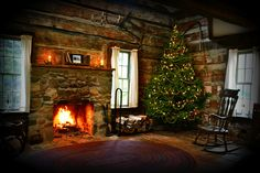 Christmas Cabin at Hidden Hollows, interior by SimsShots Photography, via Flickr