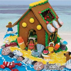 summer-time gingerbread house
