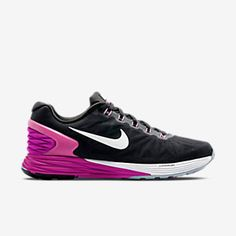 387a39f36e6 Nike LunarGlide 6 Women s Running Shoe in Dark Grey Fuchsia Flash Black  White