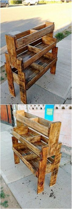 Display kids from pallets #WoodworkingIdeas