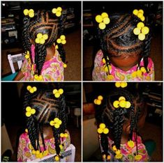 """This little lady makes the color YELLOW look like """"sunshine""""!❤️❤️ This little lady makes the color YELLOW look like """"sunshine""""! Little Girls Natural Hairstyles, Cute Little Girl Hairstyles, Little Girl Braids, Baby Girl Hairstyles, Natural Hairstyles For Kids, Kids Braided Hairstyles, Natural Hair Styles, Childrens Hairstyles, Toddler Hairstyles"""