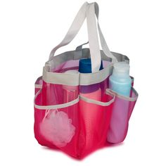 Features:  -7 Storage pockets, organize all your bath and shower products.  -Versatile design, perfect for dorm rooms, locker rooms, camping and travel.  -Add organization to your every day.  Product