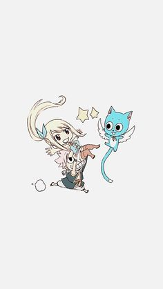 Natsu, Lucy and Happy Fairy Tail Happy, Natsu Fairy Tail, Fairy Tail Art, Fairy Tail Lucy, Fairy Tail Guild, Fairy Tail Ships, Fairy Tail Pictures, Fairy Tail Images, Fairy Tale Anime