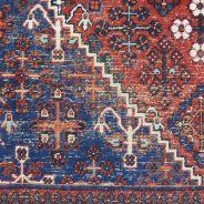 Blue Red Vintage Rug