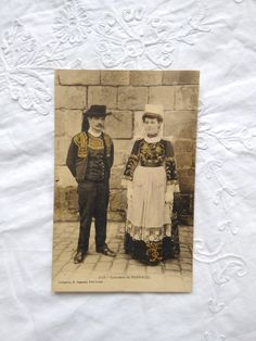 Porcelain Jewelry, Photo Postcards, Etsy Shipping, Postcard Size, Folklore, Photo Studio, Traditional Outfits, French Antiques, Retro Vintage