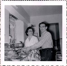 Vintage Photo Couple Carving Turkey Black & by foundphotogallery