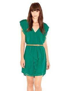 teal flowy dress