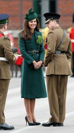 Duke and Duchess of Cambridge visit Irish Guards for St. Patrick's Day