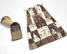 Sabra Gallup's Pocket & Roll-Up, 1780, MA, Jan Whitlock Textiles & Interiors, West Chester, PA