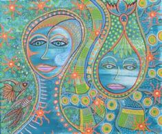 Kunstsamlingen | Artist: Barbara Kaad Ostenfeld | Title: Fantasiens genfødsel | Height: 50cm,  Width: 60cm | Find it at kunstsamlingen.com #kunstsamlingen #kunst #artcollection #art #painting #maleri #galleri #gallery #onlinegallery #onlinegalleri #kunstner #artist #danishartists #bakaos