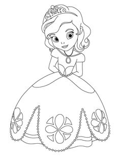 Princess Sofia the First Coloring Pages Online Coloring Pages, Free Printable Coloring Pages, Coloring Book Pages, Coloring Pages For Kids, Disney Princess Coloring Pages, Disney Princess Colors, Disney Colors, Princess Sofia The First, Princess Sophia