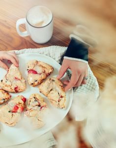 Gluten Free Strawberry Chocolate Chip Scone Recipe - Such a fun and easy kid's baking project! The Effortless Chic
