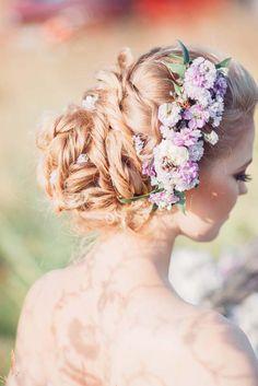 twisted wedding updo hairstyle via elena radoman - Deer Pearl Flowers / http://www.deerpearlflowers.com/wedding-hairstyle-inspiration/twisted-wedding-updo-hairstyle-via-elena-radoman/