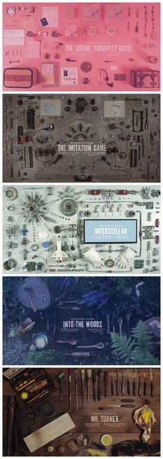 The beautiful 2015 Academy Award Production Design nominee slides designed by Henry Hobson.