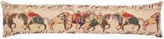 Bayeux - Fine Tapestry Draught Excluder - Extra Long Fine Woven Tapestry Draught Excluder finished with luxurious British velvet back Draught