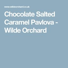 Chocolate Salted Caramel Pavlova - Wilde Orchard
