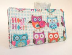 Tampon and Pad Holder in Whimsical Owls Print by BitsOHoneyDesigns, $14.50
