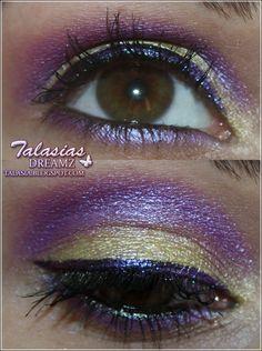 Yellow Purple Eye Make Up - Datum: 03.03.2012  http://talasia.blogspot.de/2012/03/tag-kleines-lidschatten-1x1-gelb-lila.html