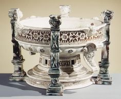 Basin (Réchaud) Date: mid-16th century Culture: French, Saint-Porchaire or Paris. Lead-glazed earthenware (white pottery)