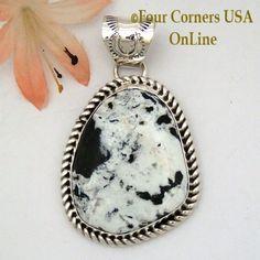 Four Corners USA Online - White Buffalo Turquoise Pendant Navajo Artisan Harry Spencer NAP-1638, $187.00 (http://stores.fourcornersusaonline.com/white-buffalo-turquoise-pendant-navajo-artisan-harry-spencer-nap-1638/)