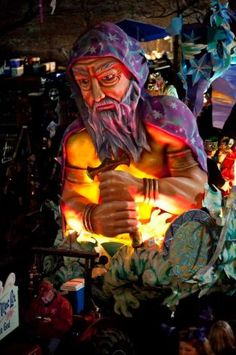 float from the krewe of proteus parade in new orleans.  lundi gras 2012.  coolest thing ever.
