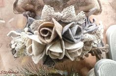 la bottega di elisa - Cerca con Google Burlap Wreath, Shabby Chic, Wreaths, Christmas, Crafts, Hobby, Home Decor, Vr, Google
