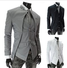 2016 New Arrival Casual Slim Stylish fit One Button Suit men Blazer Coat Jackets Male Fashion Dress Clothing Plus Size M-XXL