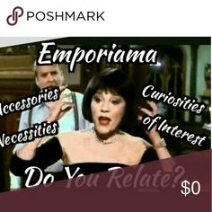 Luxe's Poshmark Sister Page, Emporiama Luxe's Poshmark Sister Page, Emporiama. Hi, I'm Jeff; Curator at Emporiama. Emporiama's Question Is; What Drives Us To Relate To The World Around Us, And Through What Means Do We Connect To Things? Emporiama Is Accessories, Necessities & Curiosities Of Interest. It's A Fun, Interactive Shopping Experience! Emporiama Takes It's Inspiration From Film, Music, Art & Life; Then Gives Allows The Viewer To Interact With Emporiama's Curated Products & Themes. I…