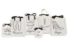 BAG-ALL Women's French Travel Bags, 6-pack $60