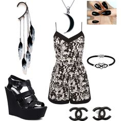 LTT138 by zachy1218 on Polyvore featuring polyvore fashion style Oasis Steve Madden Chanel Anni Jürgenson Jewel Exclusive Carolina Glamour Collection