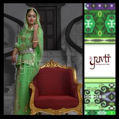 Indulge in royalty and embrace the classic green by Yuvti.