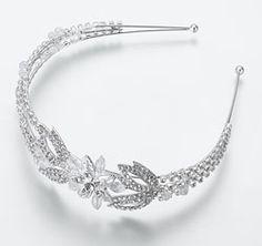Crystal Flower Wedding Headband  theweddingoutlet.com