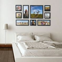 Wall GULLIVER Frames, to personalize with your photos. Photo Arrangements On Wall, Parents Room, Couple Bedroom, Inspiration Wall, Bedroom Wall, Sweet Home, Gallery Wall, Living Room, Interior Design