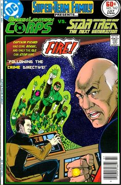 Super-Team Family: The Lost Issues!: The Green Lantern Corps Vs. Star Trek: TNG