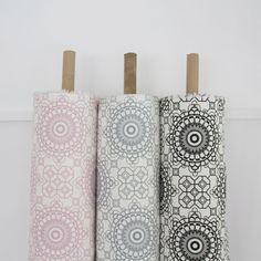 Elle Kay Fabrics Mosaic available in Rose Quartz; Graphite and Black Blanket Basket, Toy Storage, Fabric Baskets, Fabric, Blanket Storage, Pillar Candles, Basket, Storage Baskets, Storage