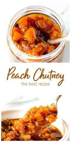 Fruit Chutney Recipe, Relish Recipes, Chutney Recipes, Jam Recipes, Canning Recipes, Other Recipes, Dinner Recipes, Curry Recipes, Sauce Recipes