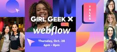 We are excited to announce a virtual Webflow Girl Geek Dinner with crucial TALKS on strategy, engineering, data, self-advocacy & NETWORKING! 1 - Welcome by Arquay Harris, VP of Engineering 2 - Product Strategy Talk by Jiaona Zhang, VP of Product 3 - Code Reviews Talk by Olena Sovyn, Staff Software Engineer 4 - Data Engineering Talk by Siobhan Sabino, Lead Data Engineer 5 - Self Advocacy Talk by Katie Fujihara, Software Engineer 6 - Networking Self Advocacy, Geek Girls, Engineering, Geek Stuff, Coding, Dinner, Geek Things, Dining, Food Dinners