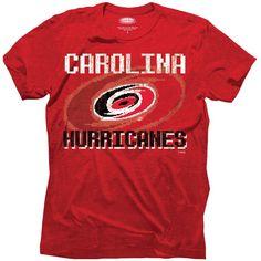 464b7717cf Majestic Threads Carolina Hurricanes 8-Bit Crest T-Shirt - Red