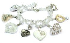Kryszytałowa , delikatna idealna na  ślub.Tak jest ta bransoletka . Charms, Beaded Bracelets, Jewellery, Beads, O Beads, Jewels, Bead, Jewelry Shop, Pearl Bracelets