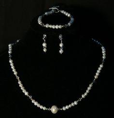 Rya - Set bijuterii din perle de apa dulce si cristale Swarovski
