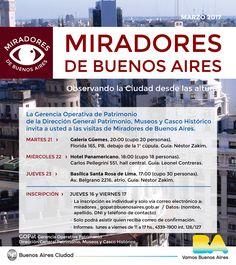 Programación miradores de Buenos Aires