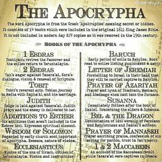 The Hidden Apocrypha could also be included in what Rav Shaul was referring to in 2 Timothy 3:16, 17 and also in 2 Peter 3:14, 15, 16 when Peter mentioned the letters of Rav Shaul; where's the letter to the Laodiceans, Colossians 4:16??? It could be that the other books mentioned in the Setapart Scriptures, such as Enoch, Jude 14, are all inspired Scriptures from YHVH!!! Test everything!!!