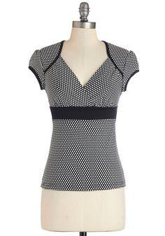 Sweet Greetings Top | Mod Retro Vintage Short Sleeve Shirts | ModCloth.com