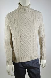 Winter White Cable Knit.