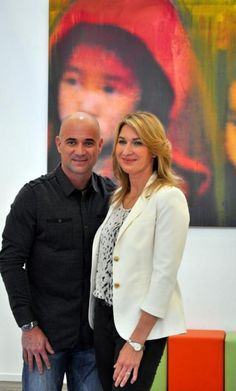 Steffi Graf and Andre Agassi in Hamburg for charity event    Tennis world usa
